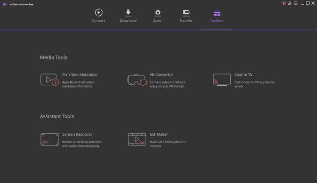 Wondershare UniConverter ultimate toolbox