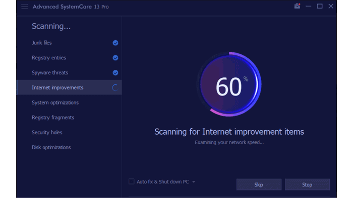 advanced SystemCare 13 Pro Scan