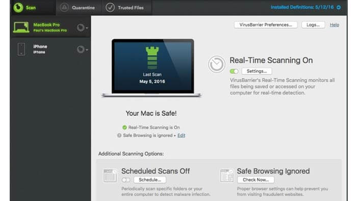 Intego Mac Internet Security Home screen