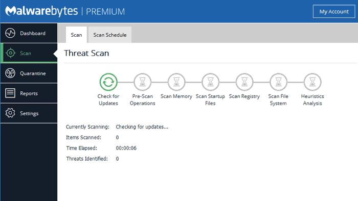 Malwarebytes Premium Scan