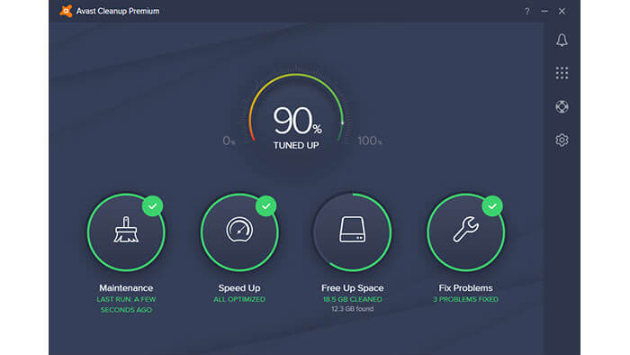 Avast Ultimate Suite cleanup module